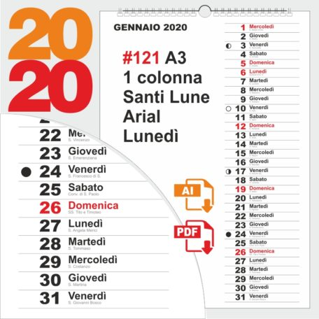 calendario 2020 mensile peppecau